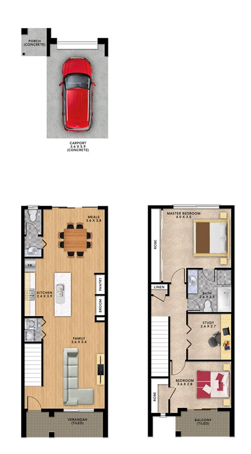 Siena 123 format homes for Allworth home designs