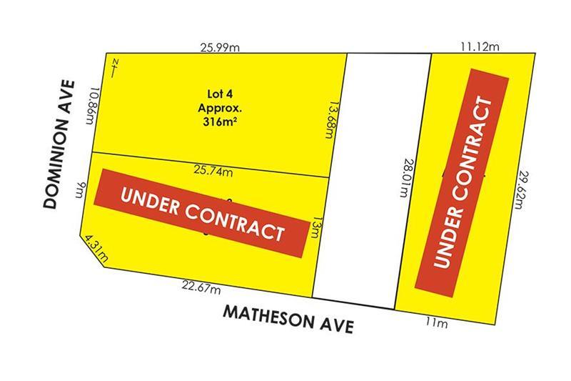 Lot/1 Matheson Avenue & Lots 3 & 4 Dominion Avenue Findon SA